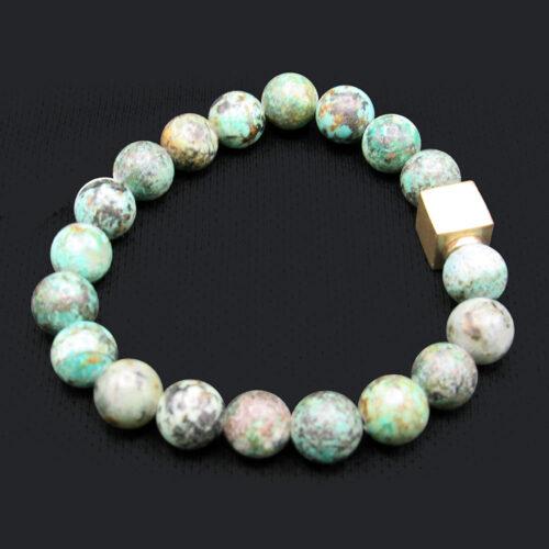 African Turquoise Precious Gem Bracelet
