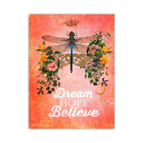 Leanin' Tree Dream Hope Believe Blank Card
