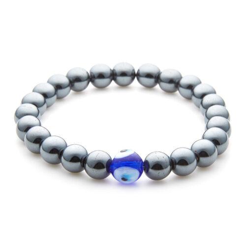 Eye of Protection Hematite Beaded Bracelet