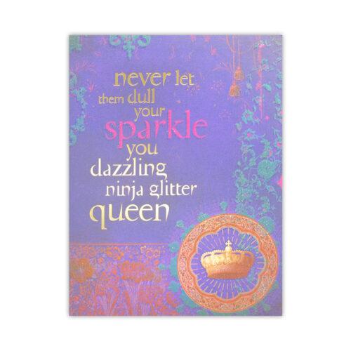 Leanin' Tree Glitter Queen Birthday Card