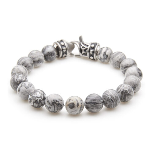 Jasper & Moss Agate Precious Stone Bracelet