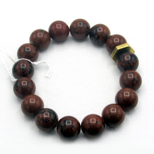 Mahogany Obsidian Precious Gem Bracelet