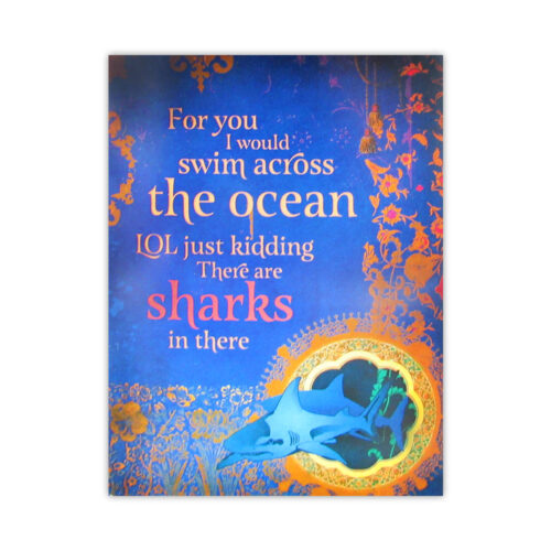 Leanin' Tree Sharks Encouragement Card