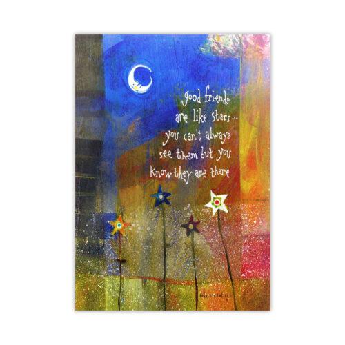 Leanin' Tree Stars Friendship Card