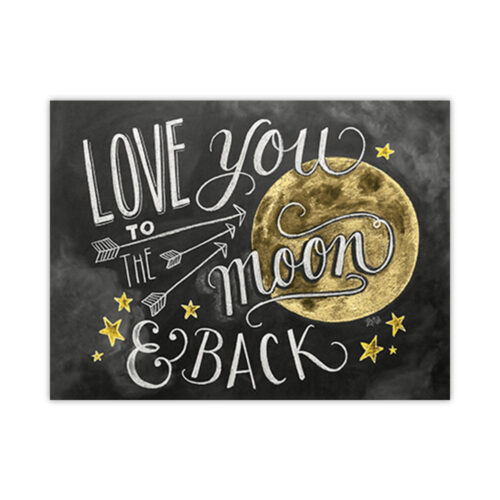 Leanin' Tree To the Moon & Back Love Card