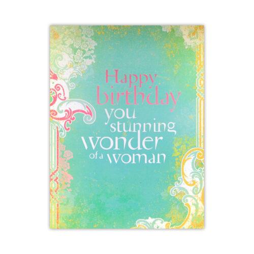 Leanin' Tree Wonder of a Woman Birthday Card