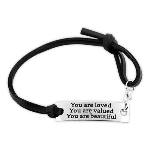 You are Loved Inspirational Bracelet